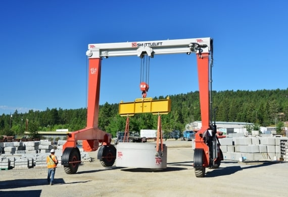 Best Transport for Concrete with Mobile Gantry