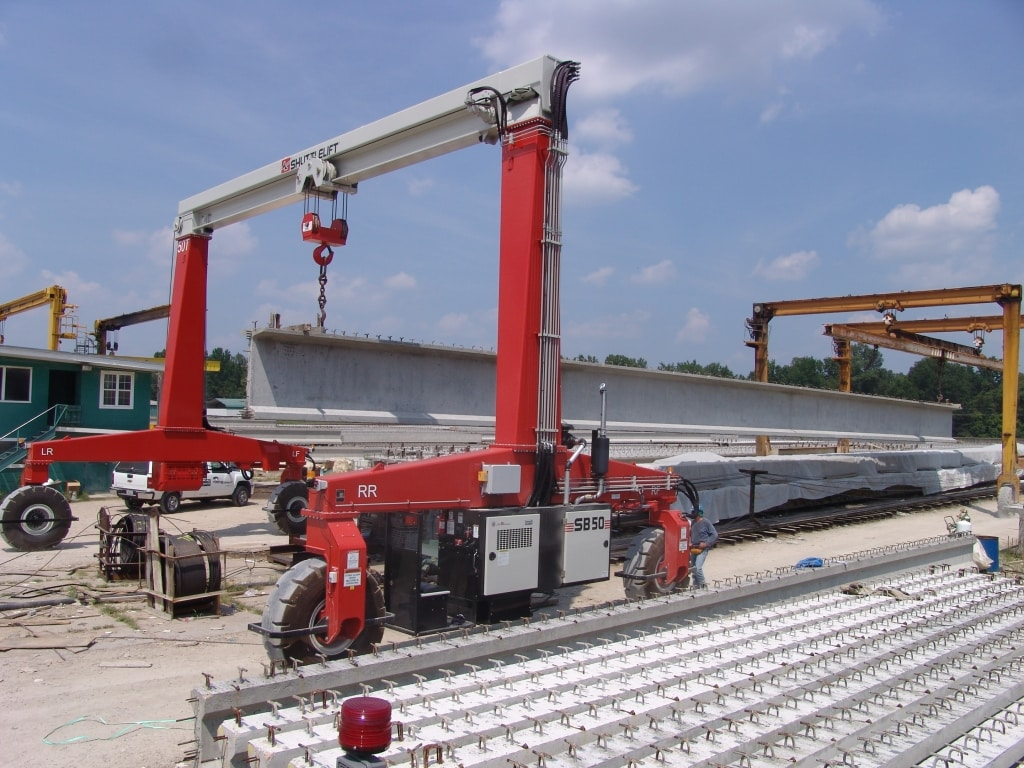Shuttlelift Single Beam 50 tons Moving Concrete Beams