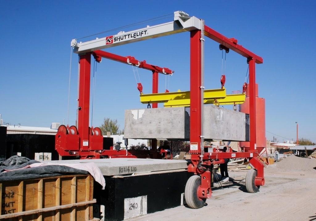 Concrete with Custom Spreader on Crane