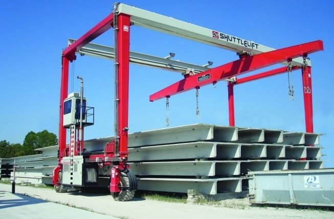 Rubber Tired Gantry Crane with Raised Cabs