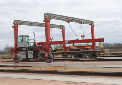 Transporting Steel with Magnet Attachments