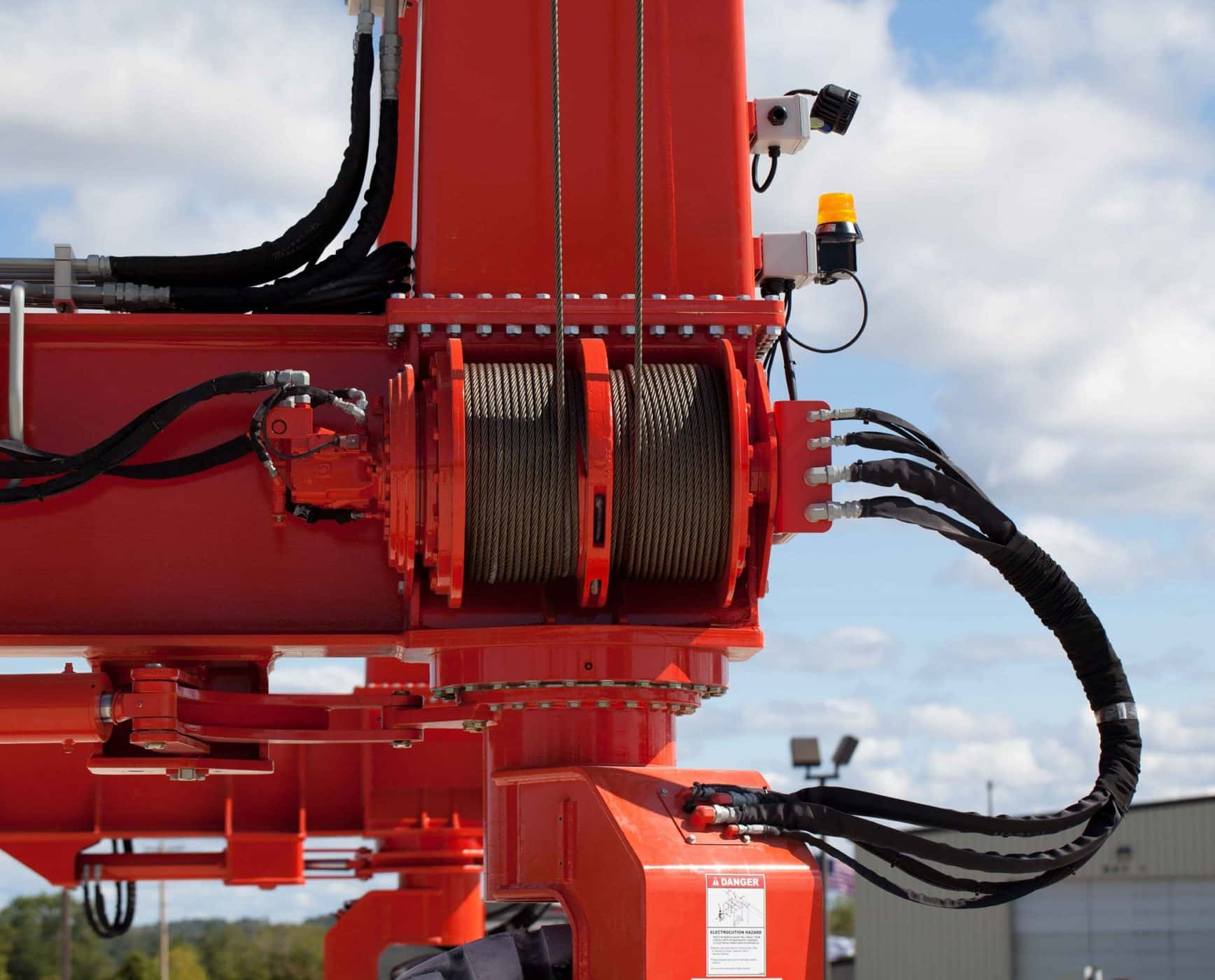 Industrial Crane with Wire Rope and Two Beams