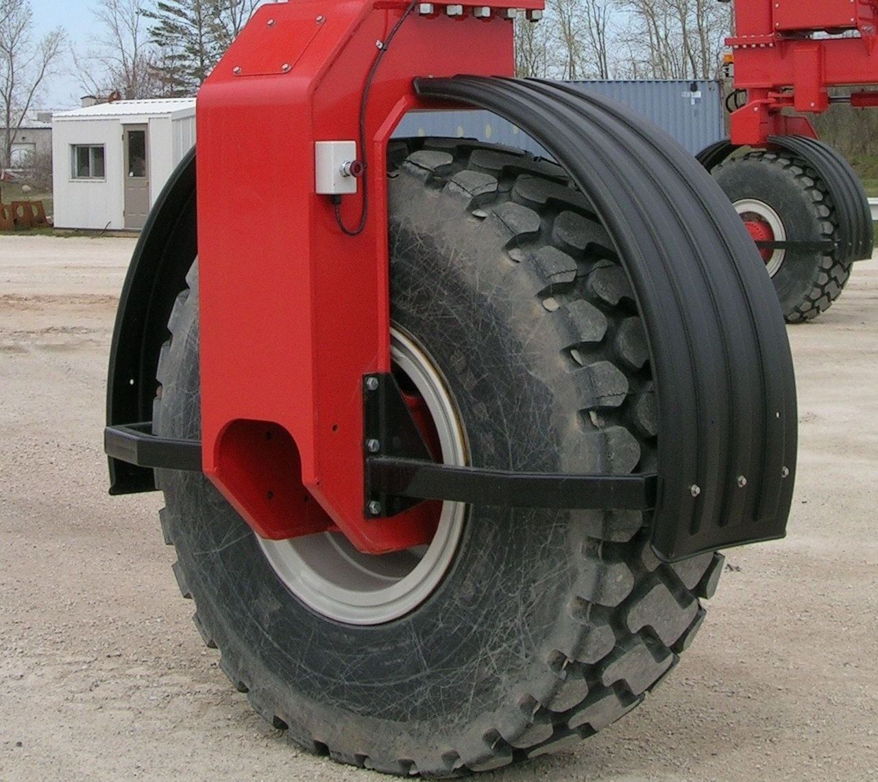 Industrial Tires on Crane for Material Handling