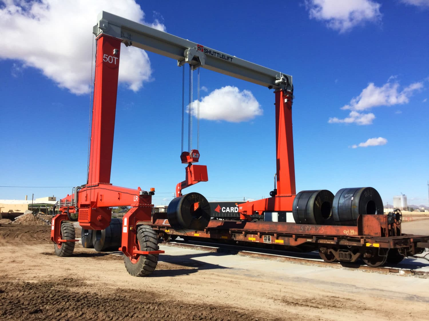 Steel Coil Yard with Shuttlelift SB Crane