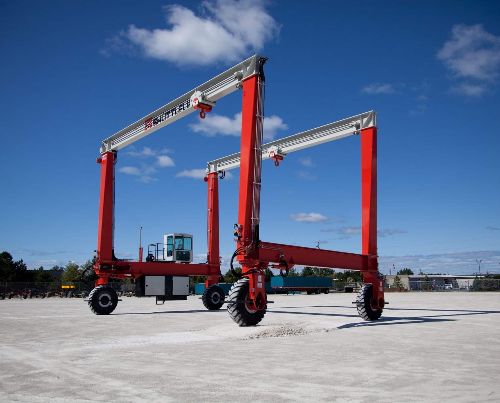 Industrial Rubber Tired Crane Designed for All Yards