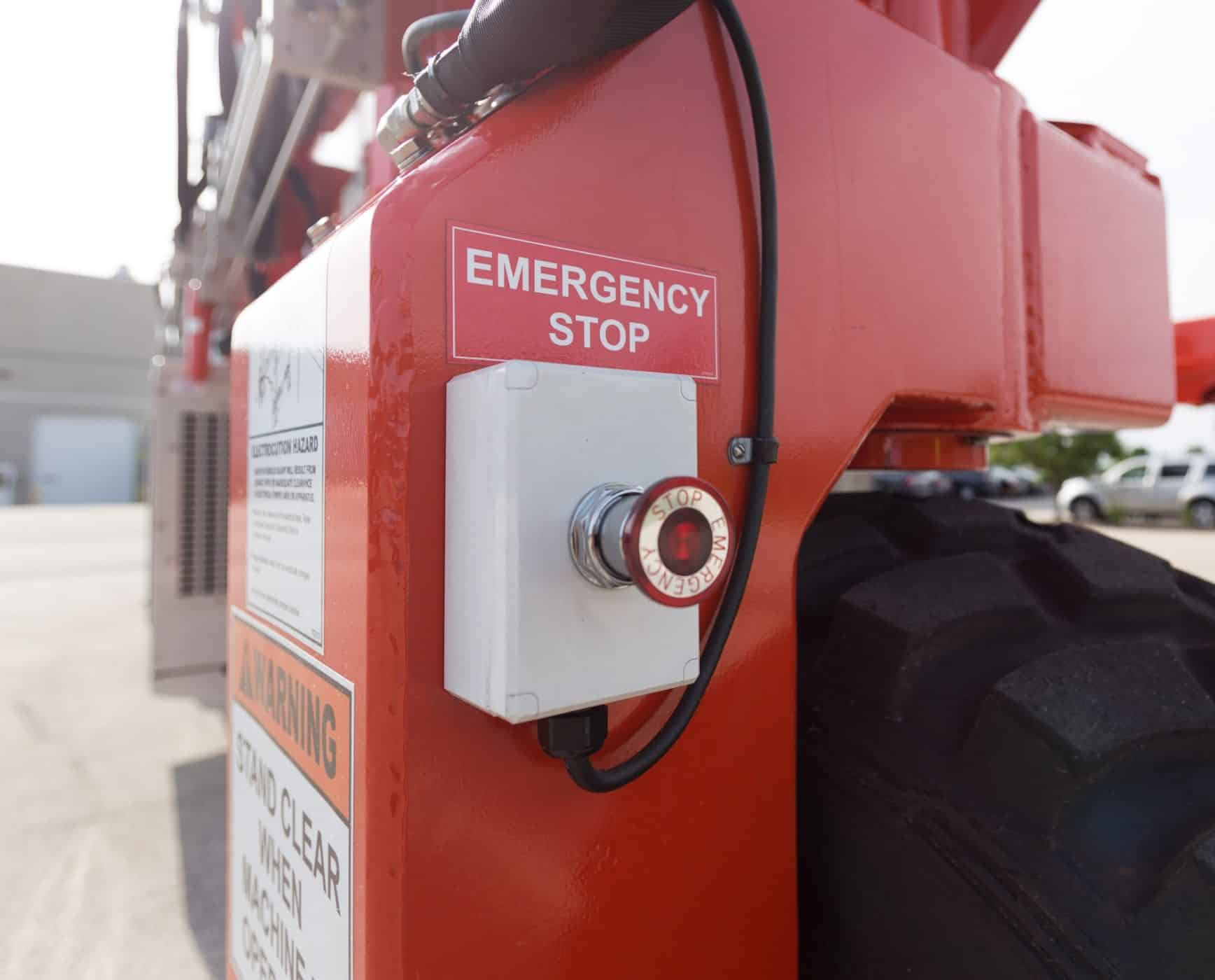 Crane Safety with Stop Button