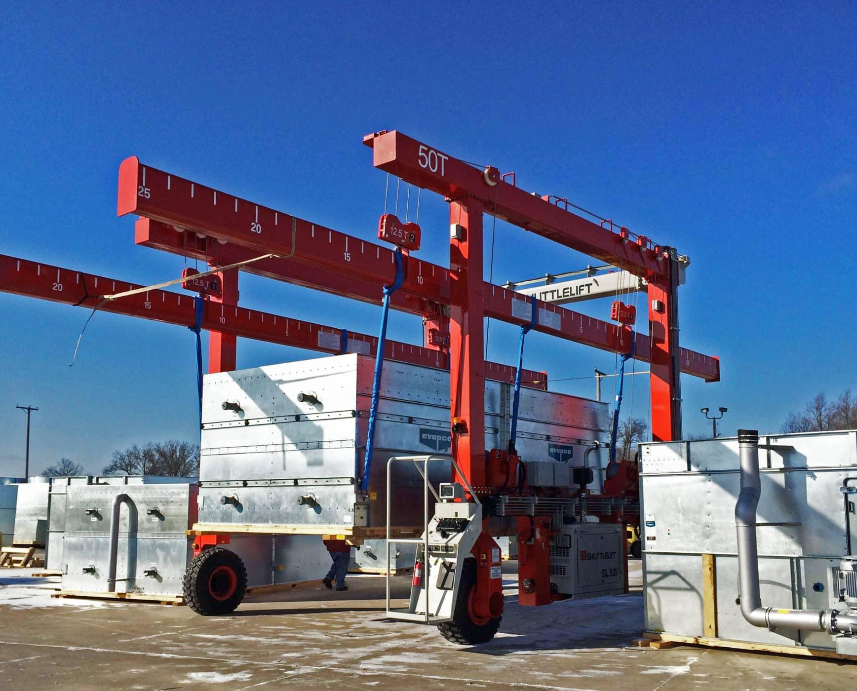 Power Gen Industry Crane with Custom Spreaders