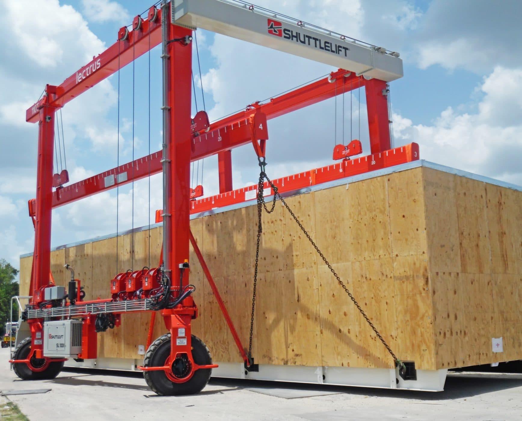 Overhead SL gantry crane material handling application