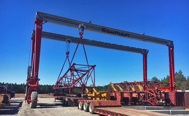 DB Gantry Crane Lifting Metal Structure with Hooks