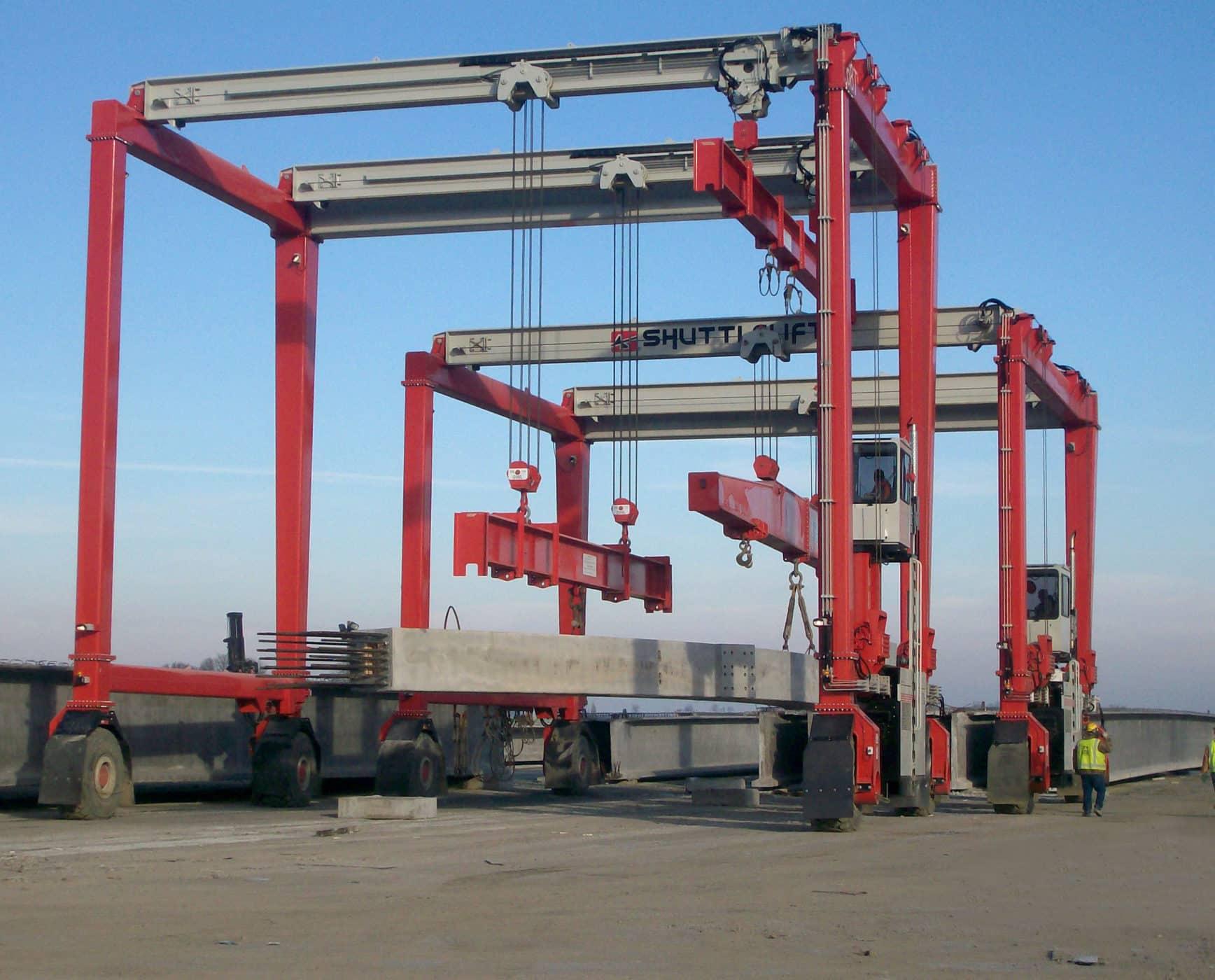 Dual Shuttlelift ISL series rubber tire gantry cranes