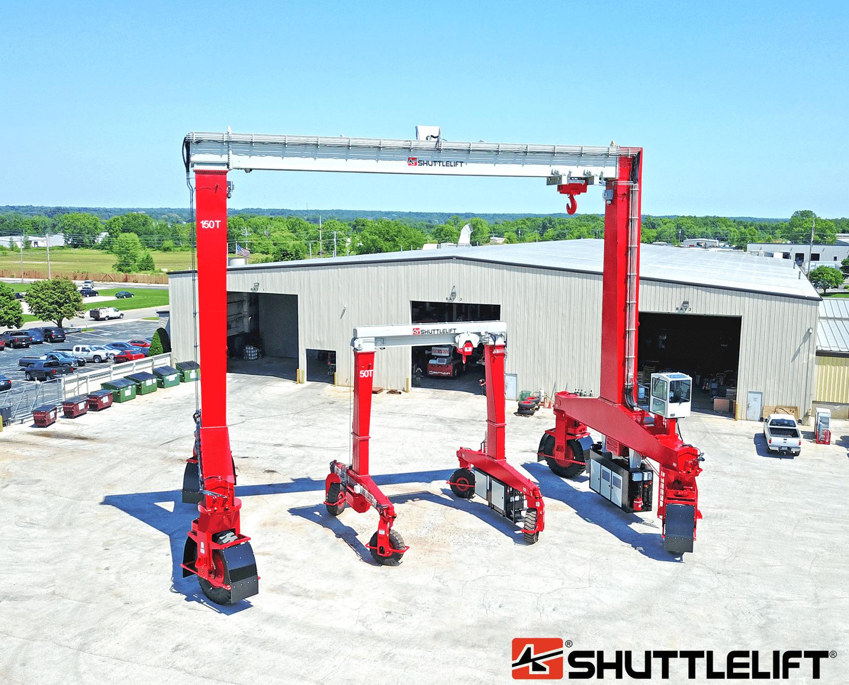 Dual Shuttlelift SB rubber tire gantry cranes