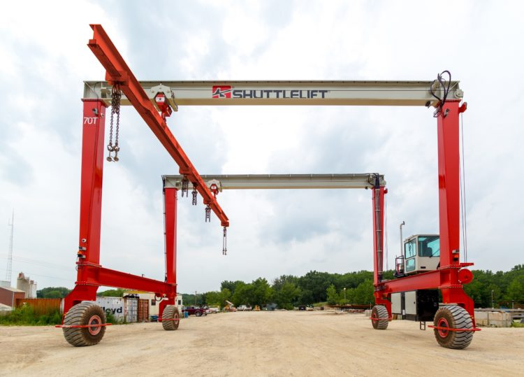 Shuttlelift DB Series rubber-tired gantry crane