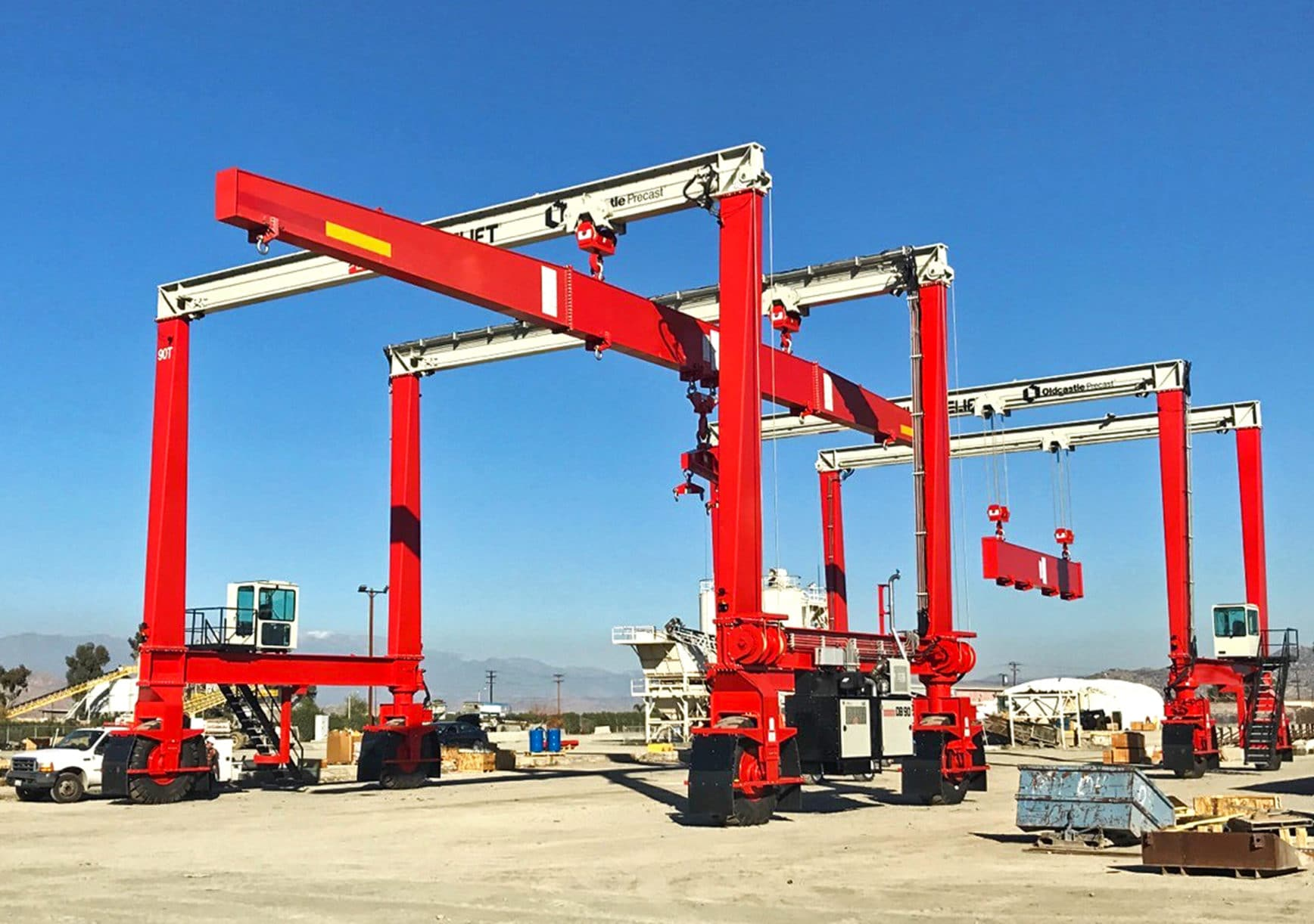 Shuttlelift DB 90 Gantry Cranes Give Oldcastle Precast Long