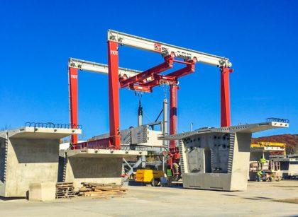 Gantry Crane for Concrete Yard Picks